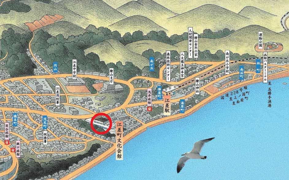 江差追分全国大会会場周辺地図